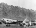 Mount Cook Airlines DC3 at Queenstown Airport; 10-1412