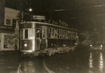 Trams  Auckland, last tram in Mt Roskill ( Dominion Rd ) at Dominion Rd /New North Rd intersections; Graham C. Stewart (b.1932); 14-0129
