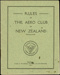 Aero Club rules; Royal New Zealand Aero Club Incorporated; 1911; 04/077/188