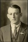 Black and white studio portrait of Trevor Alderton; Circa 1918; 04/071/021