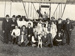 "Black and white photograph of a large group of people, probably Walsh family and supporters, in front of the Walsh Brothers' plane "" Manurewa""; 1911; 04/077/042"