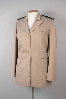 Uniform Jacket [Tasman Empire Airways Limited]; David Jones Limited (Australia, estab. 1838); Tasman Empire Airways Limited (New Zealand, estab. 1940, closed 1965); 1949-1956; 2004.439