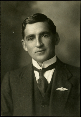Black and white studio portrait of William George Mitchell; Circa 1918; 04/071/046