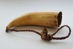 Whale tooth pendant (Tambua)  ; Pre 1925; 74/22/1