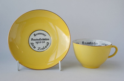 Souvenir cup and saucer of the Dunedin Exhibition...