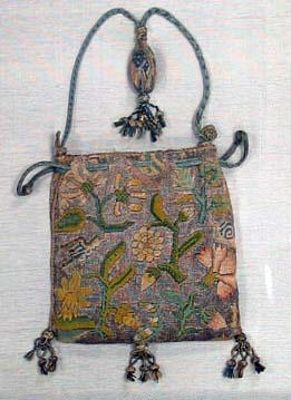 This drawstring purse, said to come from Tudor tim...