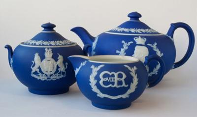 Edward VIII Coronation Tea Set ; Josiah Wedgwood & Sons Ltd (estab. 1812); 1936-1937; 004 - 006