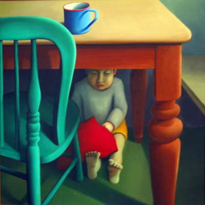 Thomas Under Table ; Michael Smither; 1970; 73/4