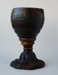 Coconut shell goblet on a round cast iron base.; Unknown sailor ; 1841; 74/350/10
