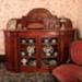 Victorian burred totara sideboard; Mr Williams, John; Circa 1886; 74/358/1