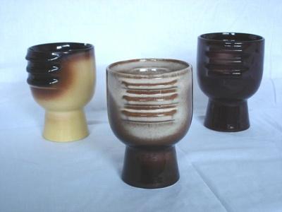 Ceramic goblet, Teal Ceramics, 1970s, .3535.92