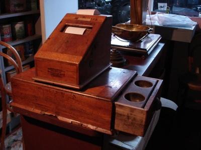 Wooden cash register, 19th Century, 1271.86