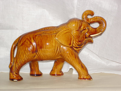 Ceramic elephant, McSkimming & Son Potteries, 1900s, 6240.02