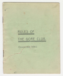 Booklet, Rules of the Gore Club; Mataura Ensign; The Gore Club; 12.05.1912; G002.117