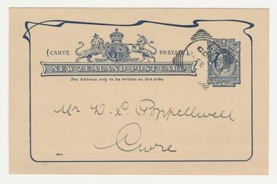 Postcard; Robert McNab, M.P.; 24.02.1906; GO.02.117
