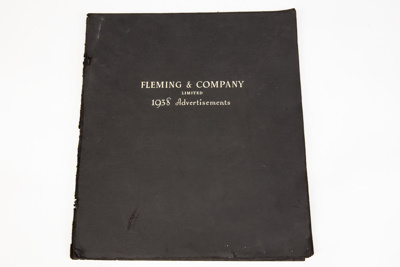 Advertising Booklet, Fleming 1938 [In Copyright]; Fleming & Company Limited; Fleming & Company Limited; 1938; GO03.56D7