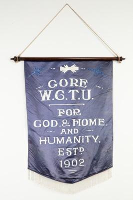 Banner, 'W C T U.; Unknown maker; 1902; GO 2018.1.1