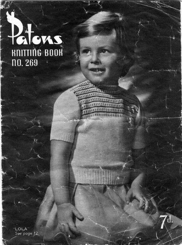 Knitting Patterns Patons Knitting Book No 269 1940s 1950s