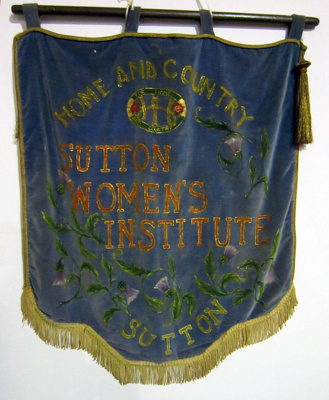 Banner, commemorative [Sutton Women's Institute]; Ada Terry; 1930s; 2011.12