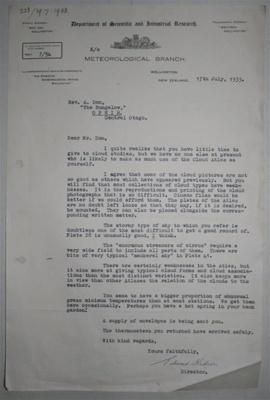 Letter [Edward Kidson to Alexander Don]; Edward Kidson (1882-1939); 17 Jul 1933; XOPO.452