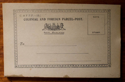 Delivery card; New Zealand Post Office (estab. 1840); 1921; XOPO.209