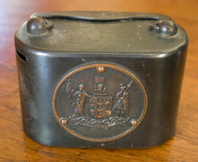 Money box; New Zealand Post Office Savings Bank (New Zealander, estab. 1876); XOPO.52