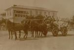 Thirwell house with decorated wagon, Circa 1910, OP-783
