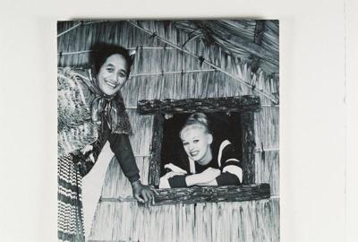 View of British actress Sabrina with Guide Rangi a...