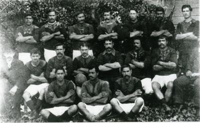 Team portrait of the Rotorua Maori team that playe...