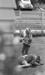 Boy and girl boxing; Jack Lang; 1967; 2010.100.1981