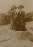 Tourists standing in Brain pot, Marsh, R.G., Circa 1910, OP-2296