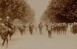Band leading parade in Arawa Street, Circa 1910, OP-729