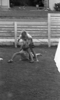 Boy and girl boxing; Jack Lang; 1967; 2010.100.1979