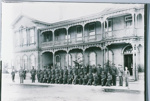 Boer War Volunteers in front of Grand Hotel, Fenton Street., Circa 1901, GP-58