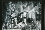 Tourists on Hinemoa's steps, 3/02/1912, GP-147