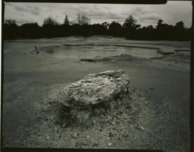 View of a silica formation, Lake Rotorua.