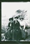 Three female tourists beside Puarenga, Circa 1900, GP-224