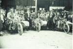 Rotorua Motorcycle Club run, Tutanekai street, Circa 1925, CP-3805