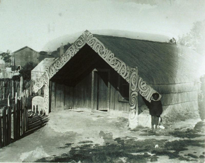 Tauwhitu whare, Ohinemutu. The house was owned by ...