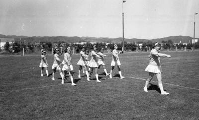 Marching girls at the Murupara gala; Jack Lang; 1967; 2011.100.2020