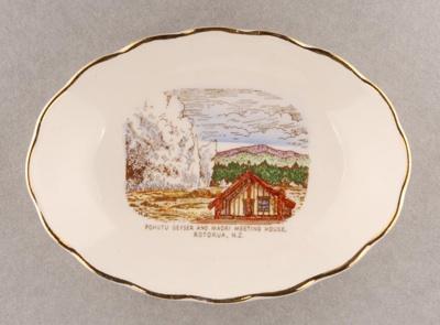 Dish; Ashley Clough Buckfast Potteries; Unknown; 1986.23.5