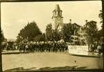 Band leading parade on Arawa Street, Rotorua, Circa 1923, OP-814