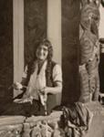 Guide Georgina at Wahiao house, Searle, Ronald J., OP-221