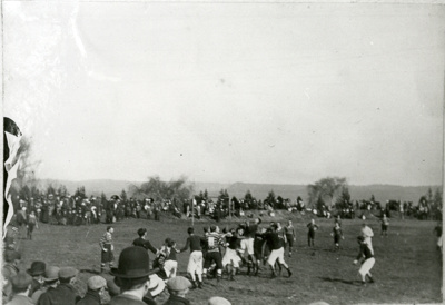 View of a lineout in action.