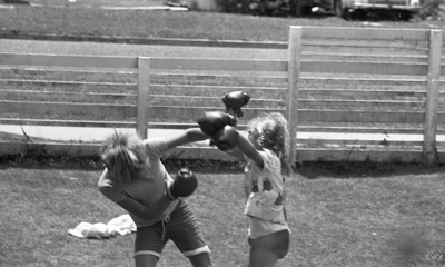 Boy and girl boxing; Jack Lang; 1967; 2010.100.1985