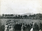 1904 Rugby game in progress on Pukeroa Hill; Unknown; 1904; CP-1012
