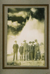 Tourists stand in front of erupting Pohutu geyser, Stewart, F.E., 1916, 2006.72.1