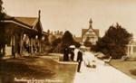 View from Te Runanga - to Bath house, Radcliffe, F.G.R., Circa 1910, OP-143