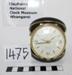 """Tokyo clock"" travel alarm clock in round black case. Made in Japan c 1970; Tokyo Clock, Japan; 1970; 1475"