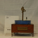 Lagoon Mystery table  clock, made by  Mr Clapham  c 1950th.; A.Clapham; c 1950th.; 297